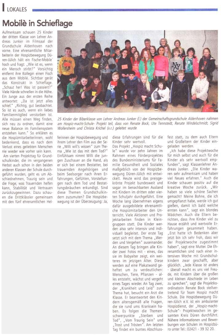 Zeitungsbericht \